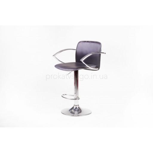 Барный стул LUX с подлокотником черный