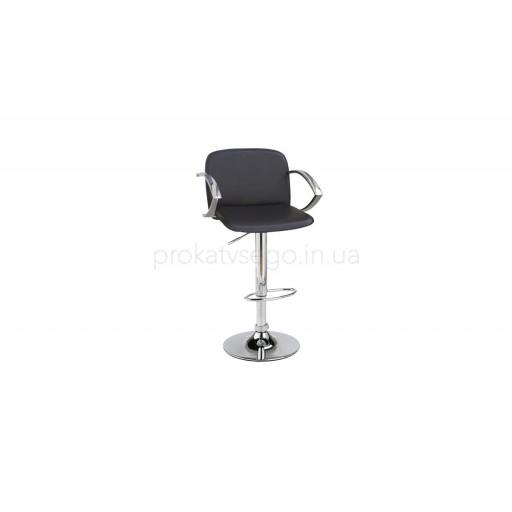 Барный стул Люкс (LUX) с подлокотником черный