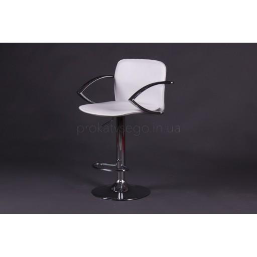 Барный стул LUX с подлокотником белый