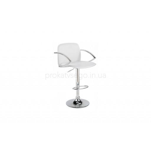 Барный стул Люкс (LUX) с подлокотником белый