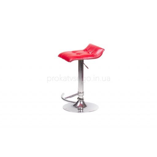 Барный стул волна красный