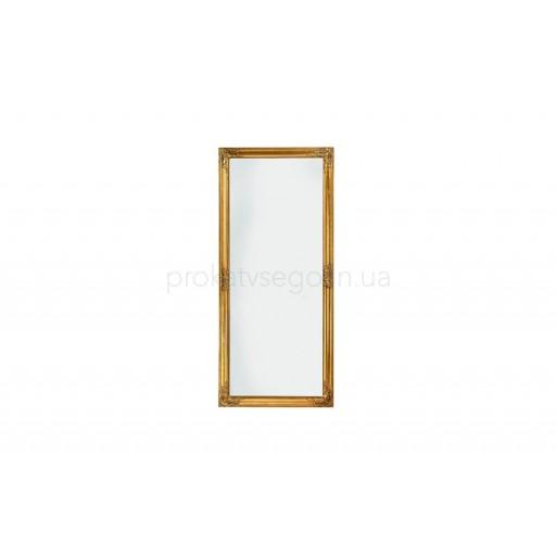Напольное зеркало в золотой оправе