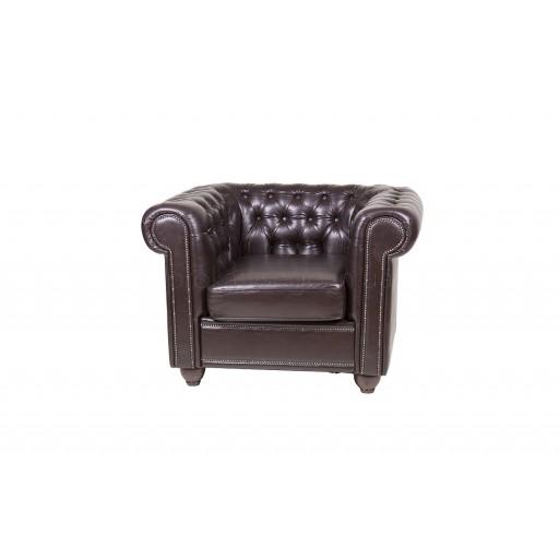 Кресло честер (chester) коричневое