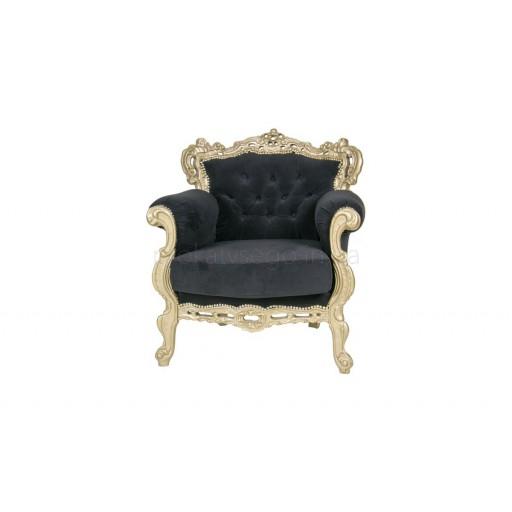 Кресло барокко (barocco) черное