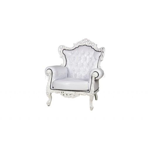Кресло барокко (barocco) белое