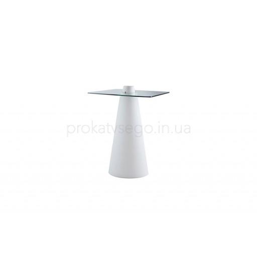 Барный стол Конус с LED подсветкой квадратный
