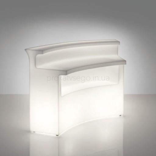Полукруглый ресепшн с LED подсветкой