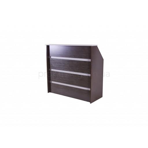 Ресепшн стойка регистрации коричнево-серый 125*120см