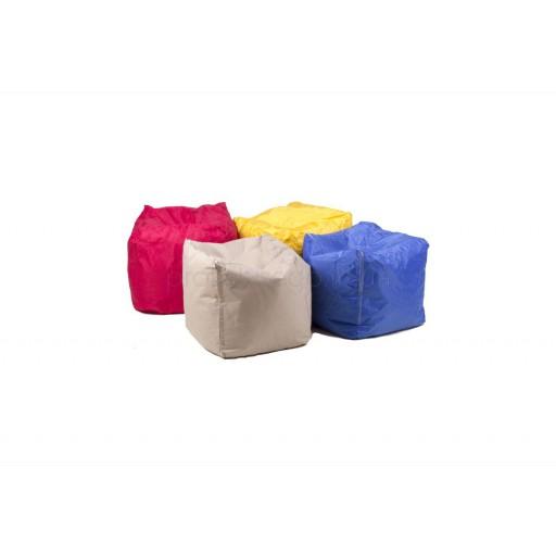 Пуф бескаркасный разноцветный 45*45см