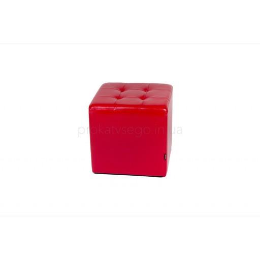 Пуф красный 45*45см
