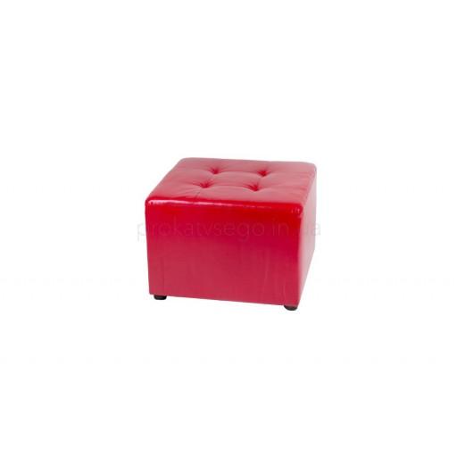 Пуф красный 60*60см