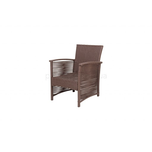 Ротанговое кресло коричневое