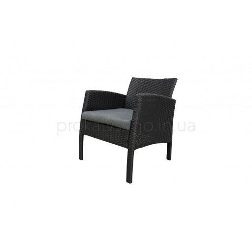 Ротанговое кресло черное
