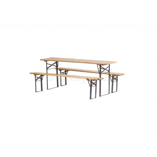Складной садовый комплект 2 лавочки и стол (набор лавка рейка)