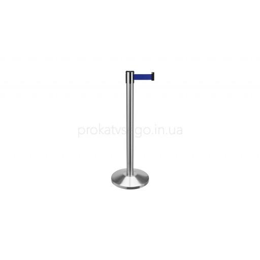 Оградительные столбики с тенсатором синие