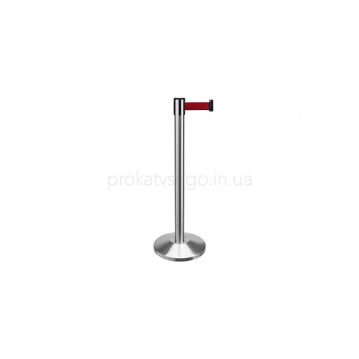 Оградительные столбики с тенсатором красные