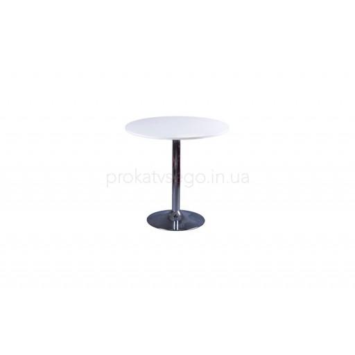 Столик круглый белый д80см
