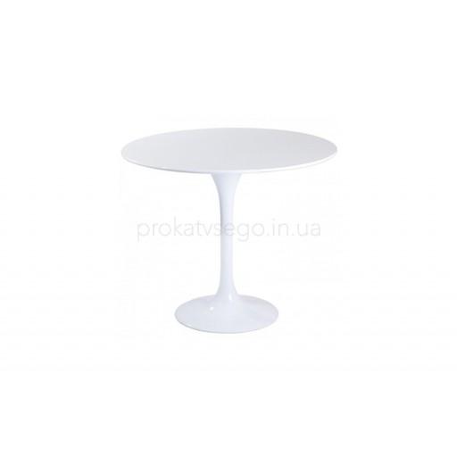 Стол тюльпан белый д80см
