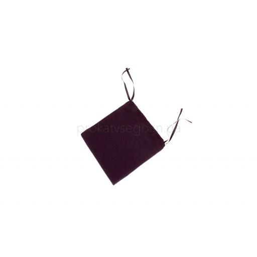Мягкие черные подушки для стульев