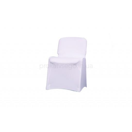 Чехол стрейч на стул белый