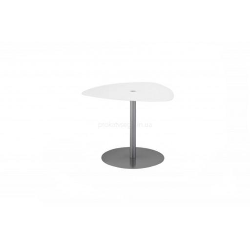 Столик Самуэль треугольный стекло