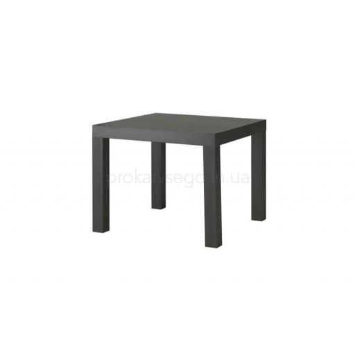 Столик квадратный черный