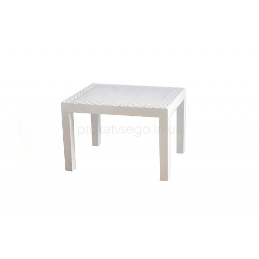Столик пласт белый