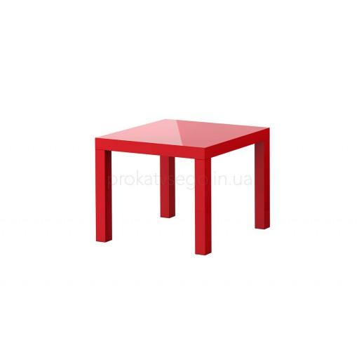 Столик квадратный красный
