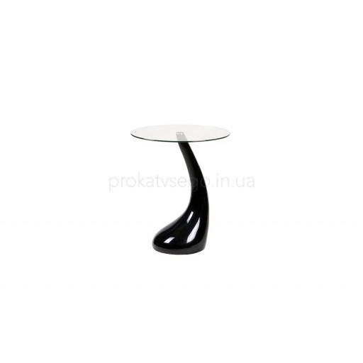 Керамический столик PERLA черный высокий