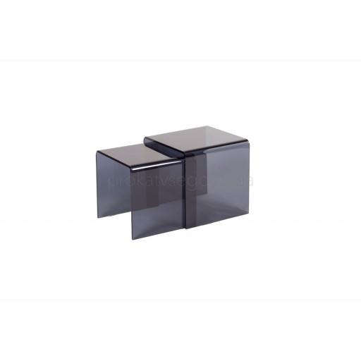 Столик Vulcano тонированый 2в1